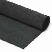 Бумага гофрированная Италия 50см х 2,5м 180г/м2 цв.602 черный