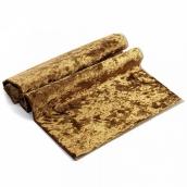 Плюш винтажный М-4005 50х50см, темное золото 100% п/э