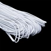 Резинка TBY шляпная (шнур круглый) белый 3,0мм 1м