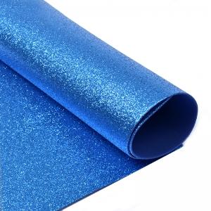 Фоамиран глиттерный Magic 4 Hobby 2 мм  цв.синий, 20х30 см