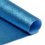 Фоамиран глиттерный Magic 4 Hobby 2 мм  цв.голубой, 20х30 см