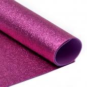 Фоамиран глиттерный Magic 4 Hobby 2 мм  цв.ярко-розовый, 20х30 см