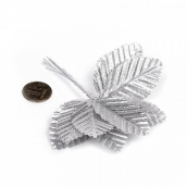 Цветы (листочки) уп.10шт цв.12 серебро