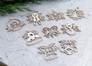 Чипборд Новогодние игрушки на елку