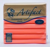 """Полимерная глина """"Артефакт""""  флуоресцентный цв.Оранжевый 56 г"""