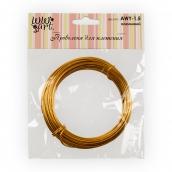 Проволока для плетения алюминий d 1.5 мм 10 м ±0.5 м под золото
