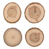 Аксессуары для флористики срез дерева (Спил) набор 9 см 4 шт.