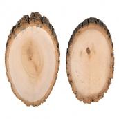 Аксессуары для флористики  срез дерева (спил) 2 шт. 20 см