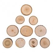 Аксессуары для флористики  срез дерева (спил) набор 3.5 см 10 шт.
