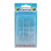 """Иглы для шитья ручные """"Gamma"""" для вязаных изд N-001 в блистере 2 шт."""
