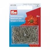 Булавки серебристые для ручных работ 65 мм железо с защитой от ржавчины уп.25г