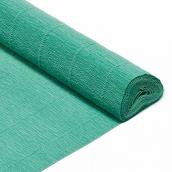 Бумага гофрированная Италия 50см х 2,5м 180г/м цв.017/Е4 морская зелень