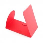 Основа  для оформления подарочной карты Комплект №2 цв.красный матовый уп.3шт