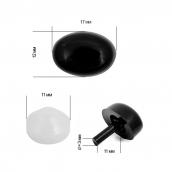 Носик 1,7х1,2см с фиксатором №4 цв.черный