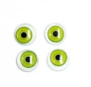 Глазки бегающие радужка 18мм цв.зеленый уп.4шт