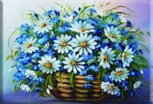 Алмазная живопись Корзина с ромашками 30*40см
