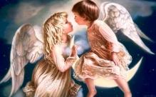 Алмазная живопись Дети ангелы 30*40см