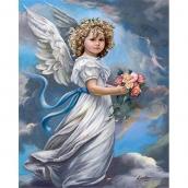 Алмазная живопись Девочка ангел 30*40см
