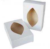 Коробка белая с окошком (картон)