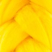 """Шерсть для валяния  """"Лента для валяния"""" (шерсть п/т 100%) 1х50г/2,1м цв. Желтый"""