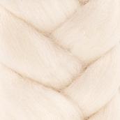 """Шерсть для валяния  """"Лента для валяния"""" (шерсть п/т 100%) 1х50г/2,1м цв. Белый"""