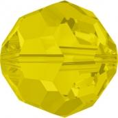 """Бусины стеклянные """"Сваровски"""" 4 мм 1 шт кристалл желтый мат."""