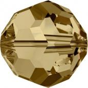 """Бусины стеклянные """"Сваровски""""  4 мм 1шт  кристалл золото"""