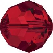 """Бусины стеклянные """"Сваровски""""  4 мм 1 шт кристалл красный"""