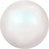 """Бусины стеклянные """"Сваровски""""  4 мм 5 шт под жемчуг кристалл белый перламутр"""