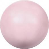 """Бусины стеклянные """"Сваровски""""  4 мм 5 шт под жемчуг кристалл нежно-розовый"""