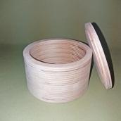 Шкатулка круглая 11х7, фанера