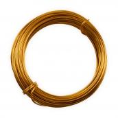 Проволока для плетения алюминий d1.5мм 10м ±0.5 м желто-оранжевый