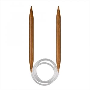 Спицы   круговые  бамбук d 10.0 мм 80 см карамельные