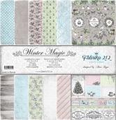 "Набор двусторонней бумаги ""Magic winter""  190гр, 30,5*30,5см"