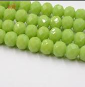 Бусины 6мм цв.зеленый травяной матовый 50шт