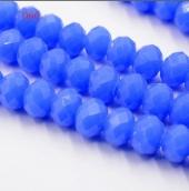 Бусины 6мм цв.синий матовый 50шт