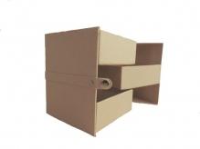 Заготовка из папье-маше Многоуровневая коробочка 10x10x12см