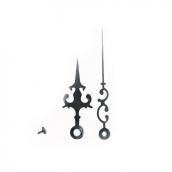 Комплект № 3 Механизм часовой 16/9 мм, с петлей+Стрелки, металлические ЧЕРНЫЕ 63/92мм