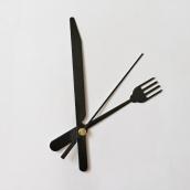 Комплект № 4 Механизм часовой 16/9 мм, с петлей+Стрелки, металлические ЧЕРНЫЕ КУХНЯ