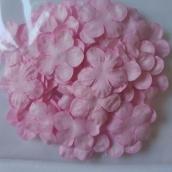 Лепестки бумажные Пятилистник, диам 36 мм, Нежно-розовый, ок 30 шт в уп