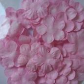 Лепестки бумажные, диам 23 мм, Нежно-розовый, ок 50 шт в уп