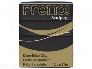 Sculpey Premo запекаемая пластика, 57 г, черный