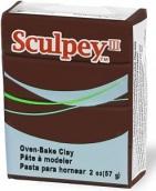 Sculpey III, запекаемая пластика, 57г, шоколадный