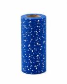 Фатин с блестками средней жесткости в шпульках, 100% ПЭ, шир.150мм цв.006 синий