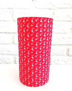 Фатин средней жесткости в шпульках, 100% ПЭ, шир.150мм цв.003 розовый в белый горох