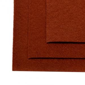 Фетр листовой мягкий IDEAL 1мм 20х30см цв.692 коричневый