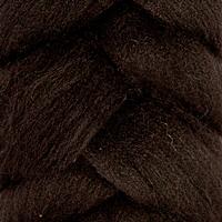 """Шерсть для валяния КАМТ """"Лента для валяния"""" (шерсть п/т 100%) 1х50г/2,1м цв.003 черный"""