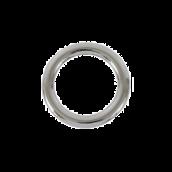 Кольцо литое разм.41(29) х 4мм, цв.никель, 1шт