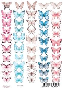 "Набор картинок для декорирования ""Бабочки 2"" А4"