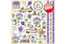 """Лист с картинками для вырезания. Набор """"Lavender Provence"""""""